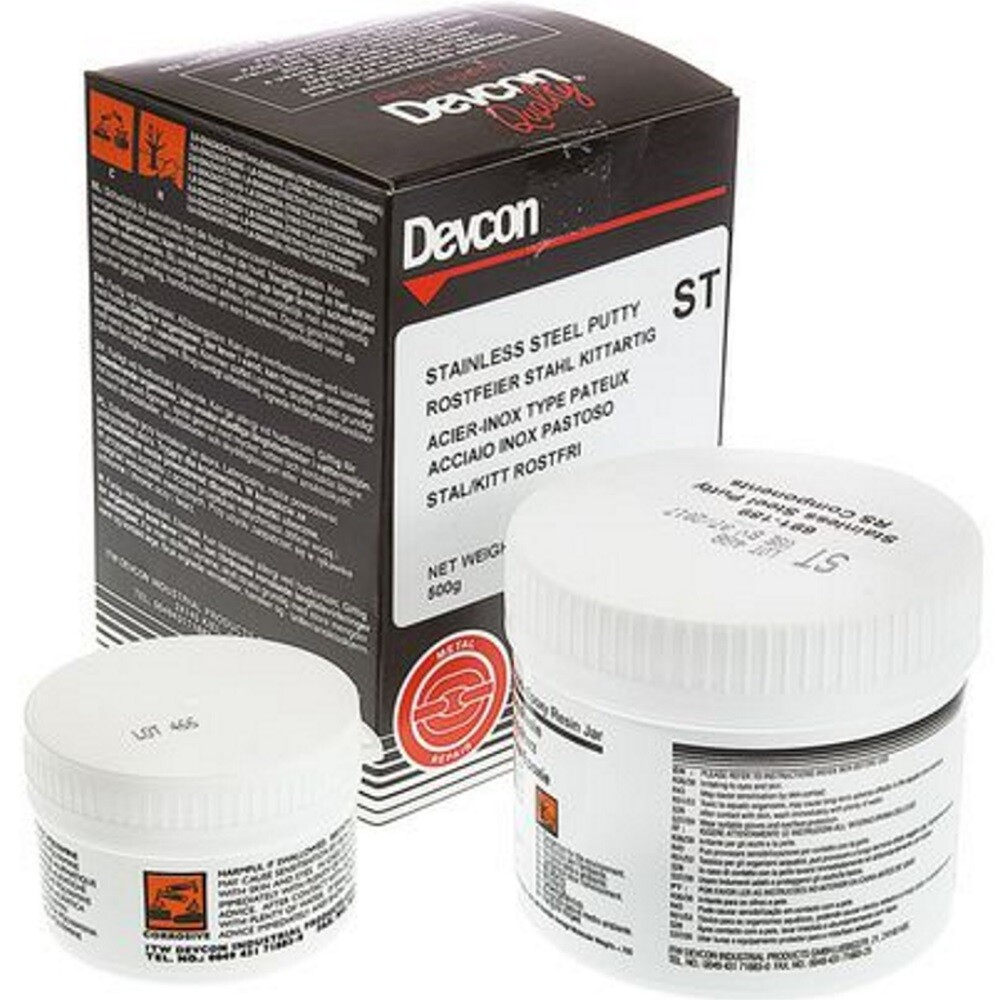 Devcon 10271 Stainless Steel Putty (ST) 500g (1x500g)