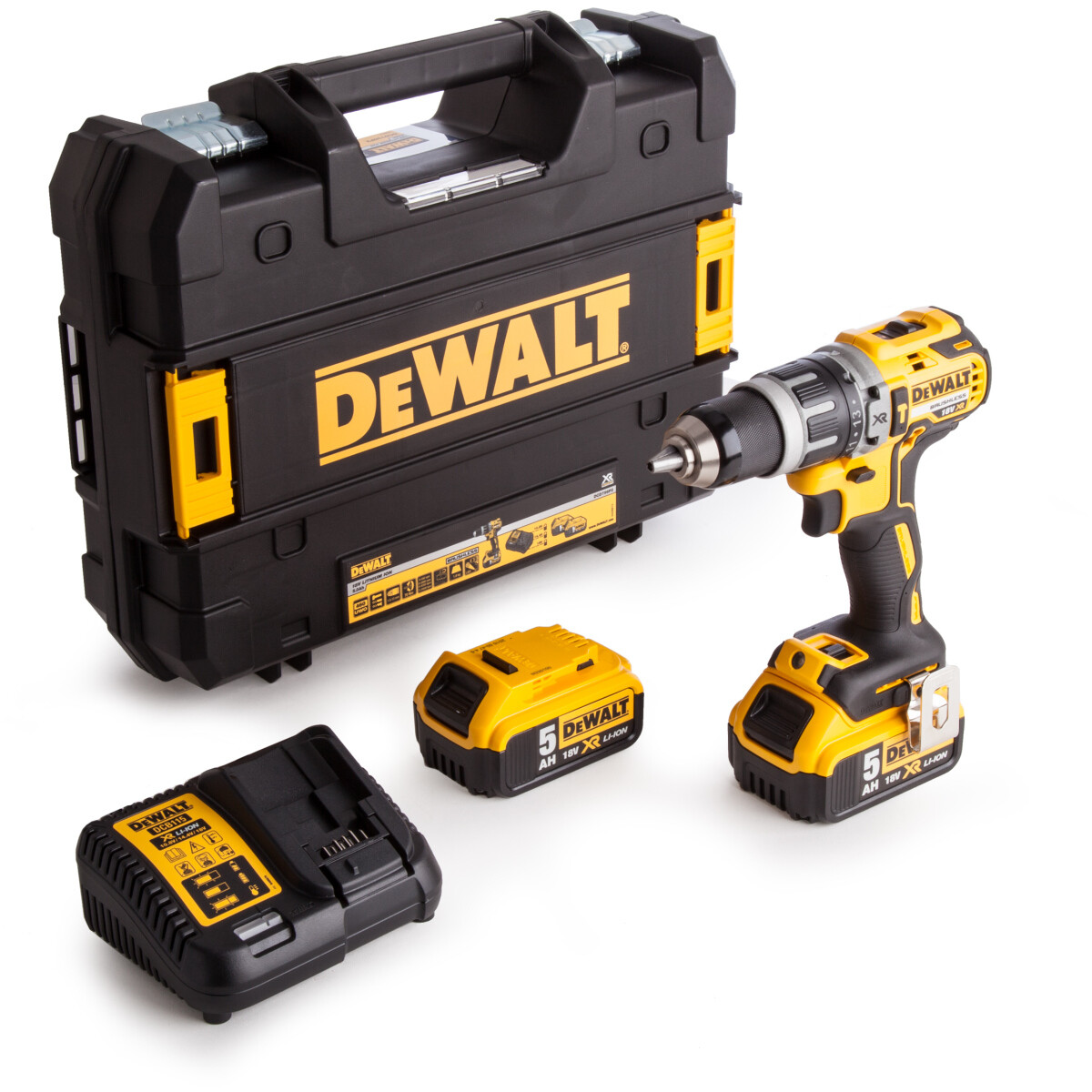 Dewalt DCD796P2 18V XR Brushless Combi Drill with 2x 5.0Ah Batteries in Case
