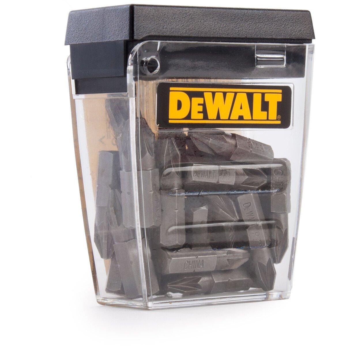 Dewalt DT71521-QZ Screwdriving Bits PZ2 Pack of 25 in Tic Tac Box 25mm Length