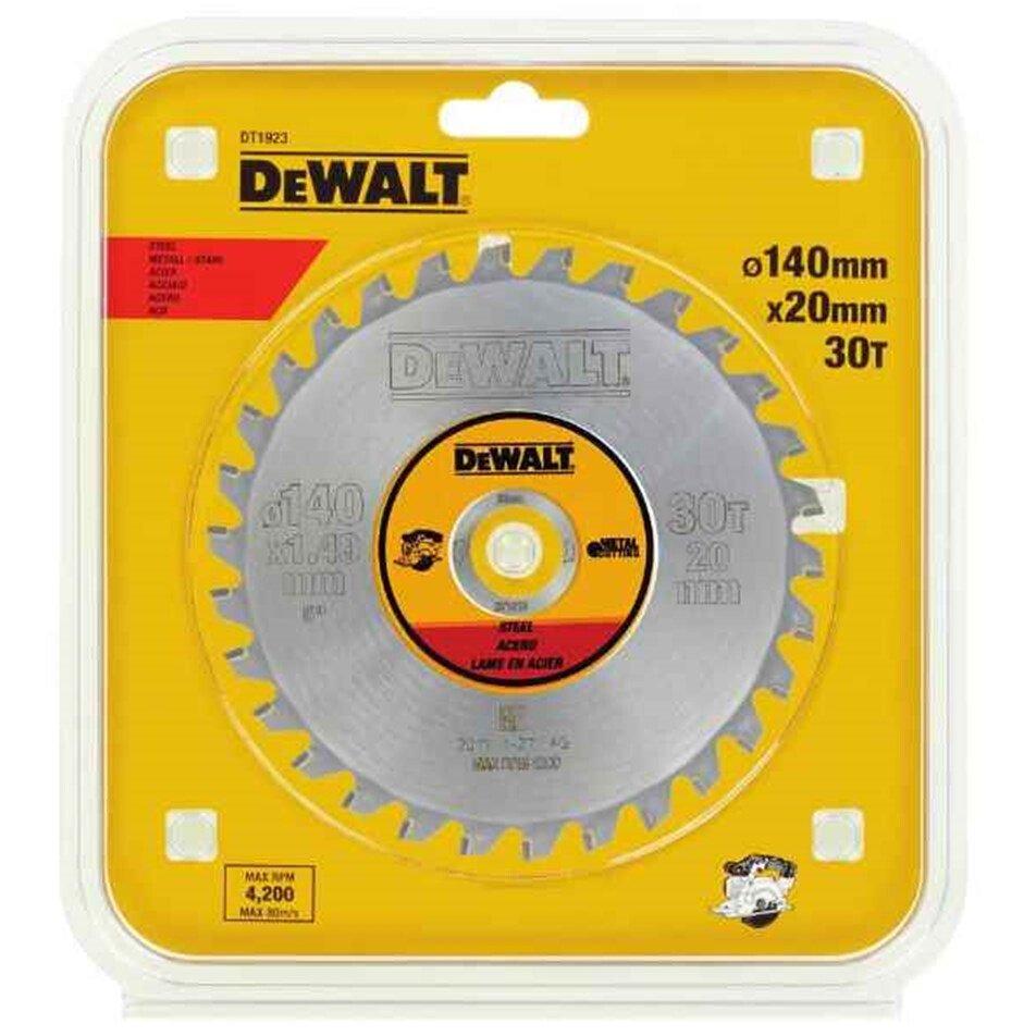 DeWalt DT1923-QZ 140 x 20 30T Steel Cordless Saw Blade