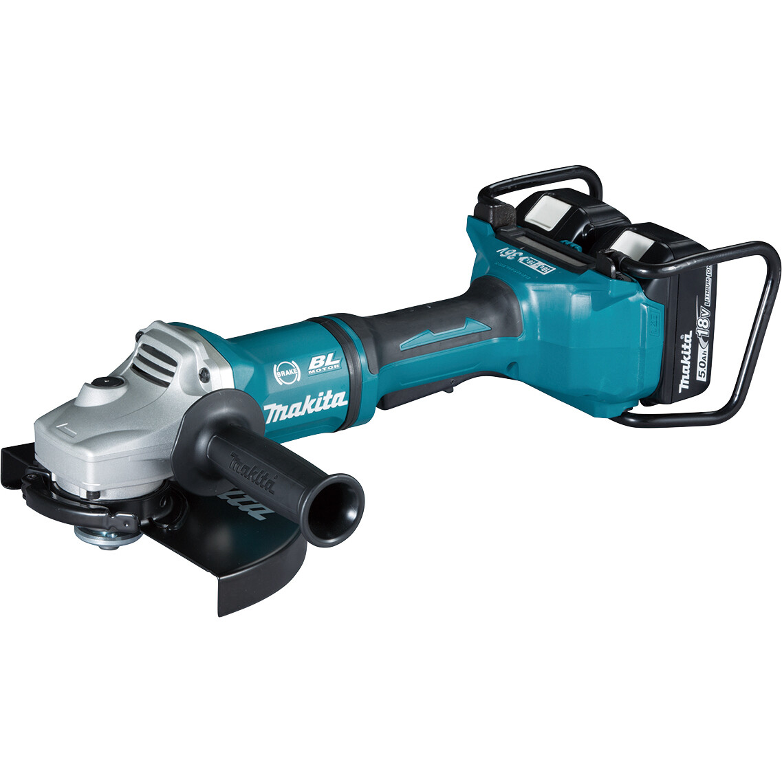 Makita Dga900pt2 Twin 18v 230mm 9 Angle Grinder With 2 Batteries Cordless Metabo W18 Ltx 125