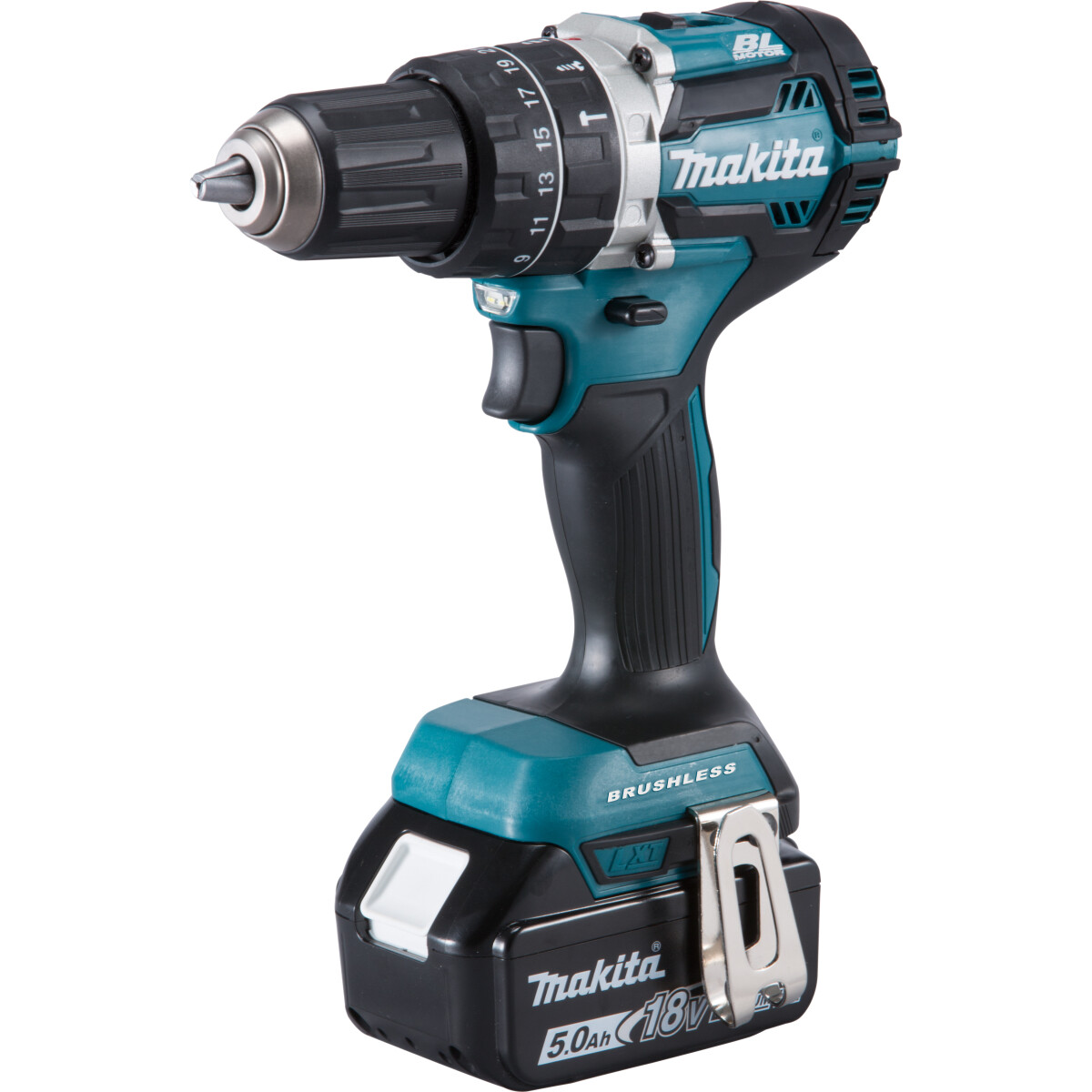 Makita DHP484RTJ 18V Brushless Combi Drill with 2x 5.0Ah Batteries in Makpac Case