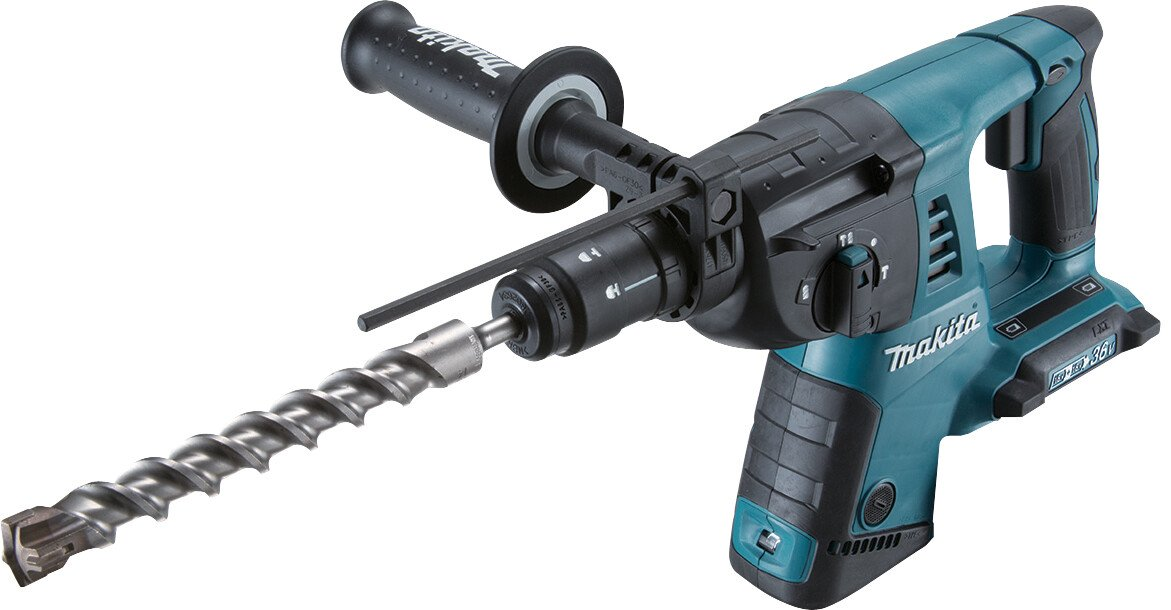 Makita DHR264ZJ Body Only Twin 18V SDS Hammer Drill with Quick Change Chuck in Makpac case