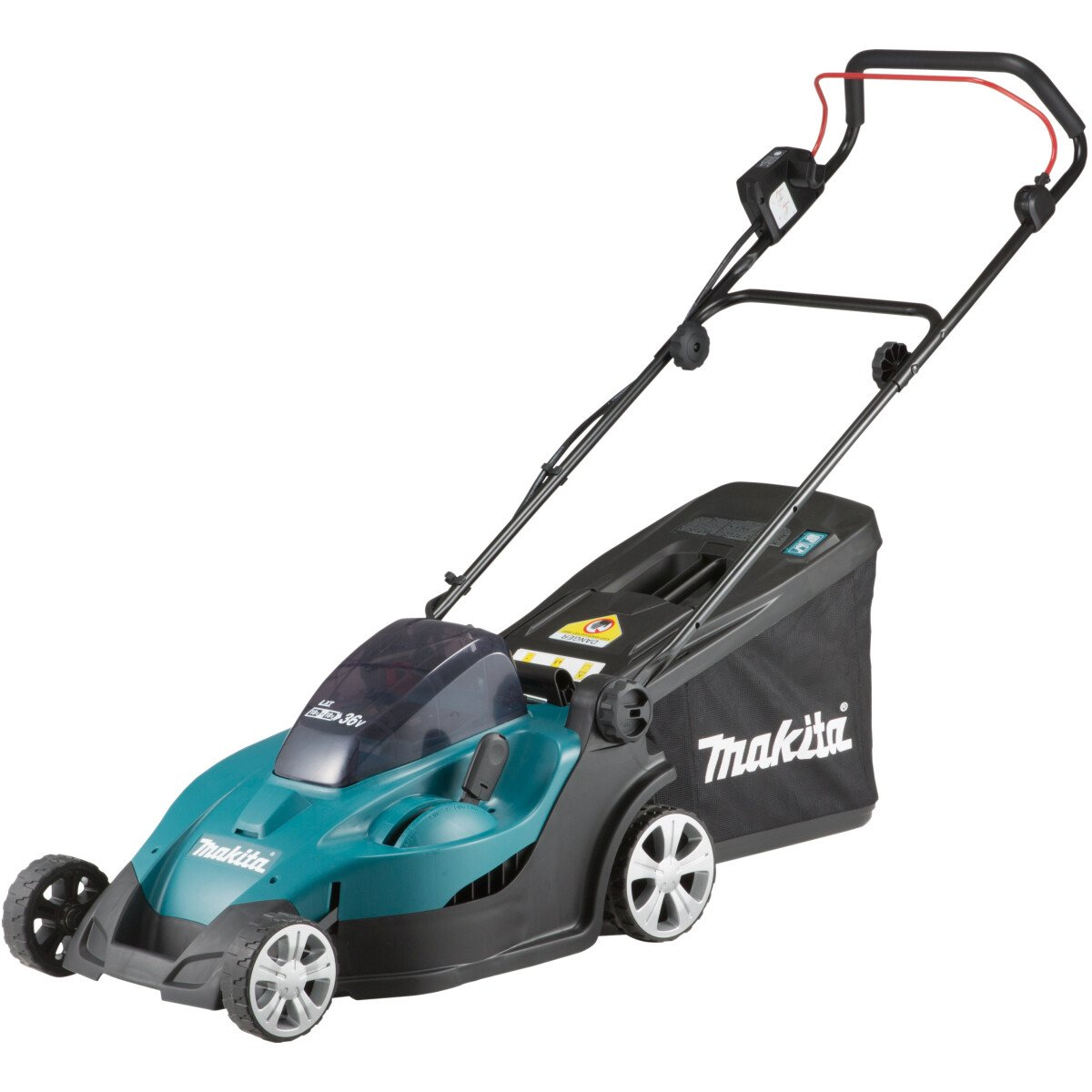 Makita DLM431PG2 Twin 18V Lawn Mower 43cm with 2 x 6.0Ah Batteries