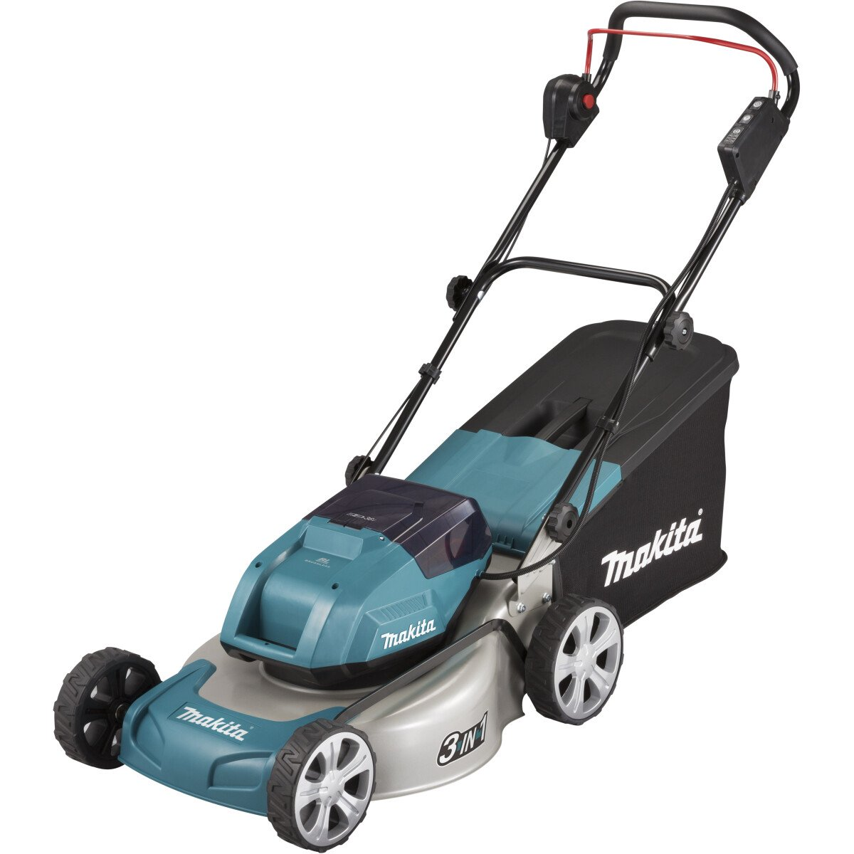 Makita DLM460PG2 Twin 18V Brushless Lawn Mower 46cm with 2 x 6.0Ah Batteries