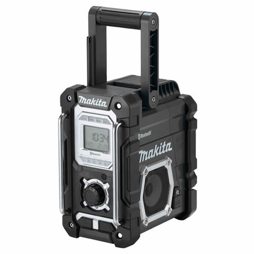 Makita DMR108B Body Only Jobsite AM/FM Radio with Bluetooth, Mains or Cordless Operation,  Black Colour (Replaces DMR106B)