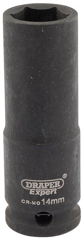 "Draper 06887 409D-MMC Expert 14mm 3/8"" Square Drive Hi Torq 6 Point Deep Impact Socket"