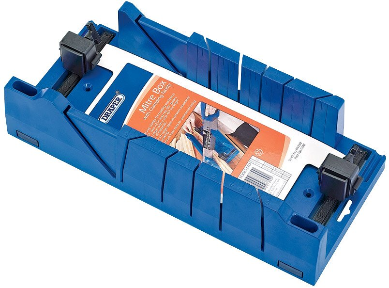 Draper 09789 CMB Expert Mitre Box With Clamping Facility 370mm X 120mm X 70mm