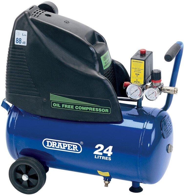 Draper 24978 DA25/169 24L 230V 1.1kW Oil Free Air Compressor