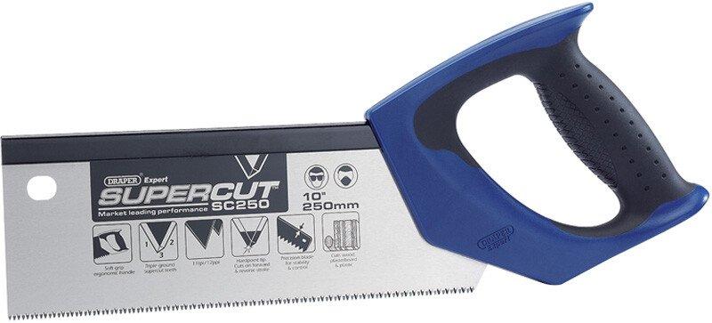 """Draper 49280 SC300 Expert Supercut 300mm/12"""" Soft Grip Hardpoint Tenon Saw   11tpi/12ppi"""