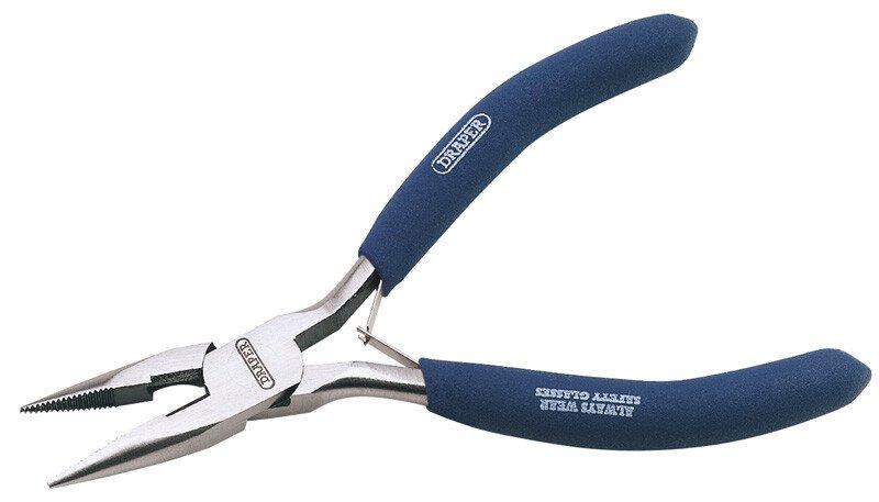 Draper 60740 38A 125mm Carbon Steel Long Nose Pliers