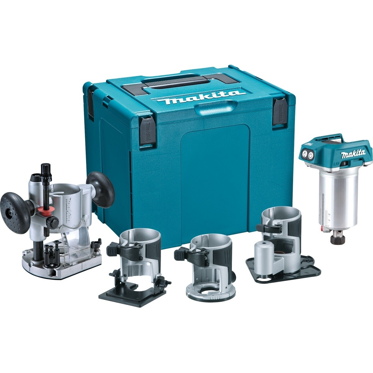 Makita DRT50ZJX3 Body Only 18v Brushless Router/Trimmer With Bases & Makpac Case