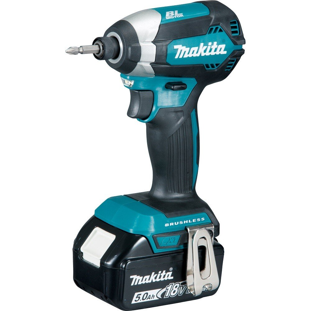 Makita DTD153RTJ 18V Brushless Impact Driver with 2x 5.0Ah Batteries in a Makpac Stacking Case