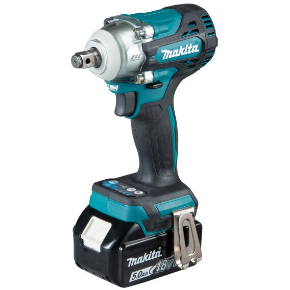 """Makita DTW300RTJ 18v 1/2"""" SQ/DR Impact Wrench 330Nm with 2 x 5Ah Batteries in Case (Replaces DTW285RMJ)"""