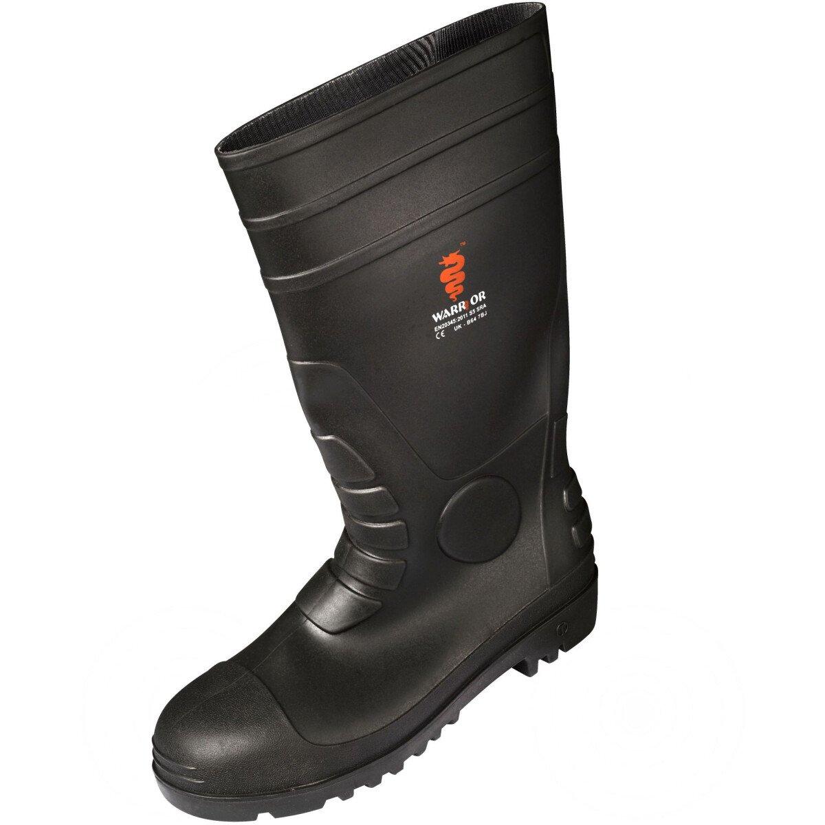 Warrior DWFO020 Safety Wellington Boot Toecap & Midsole S5 SRA UK Size 10