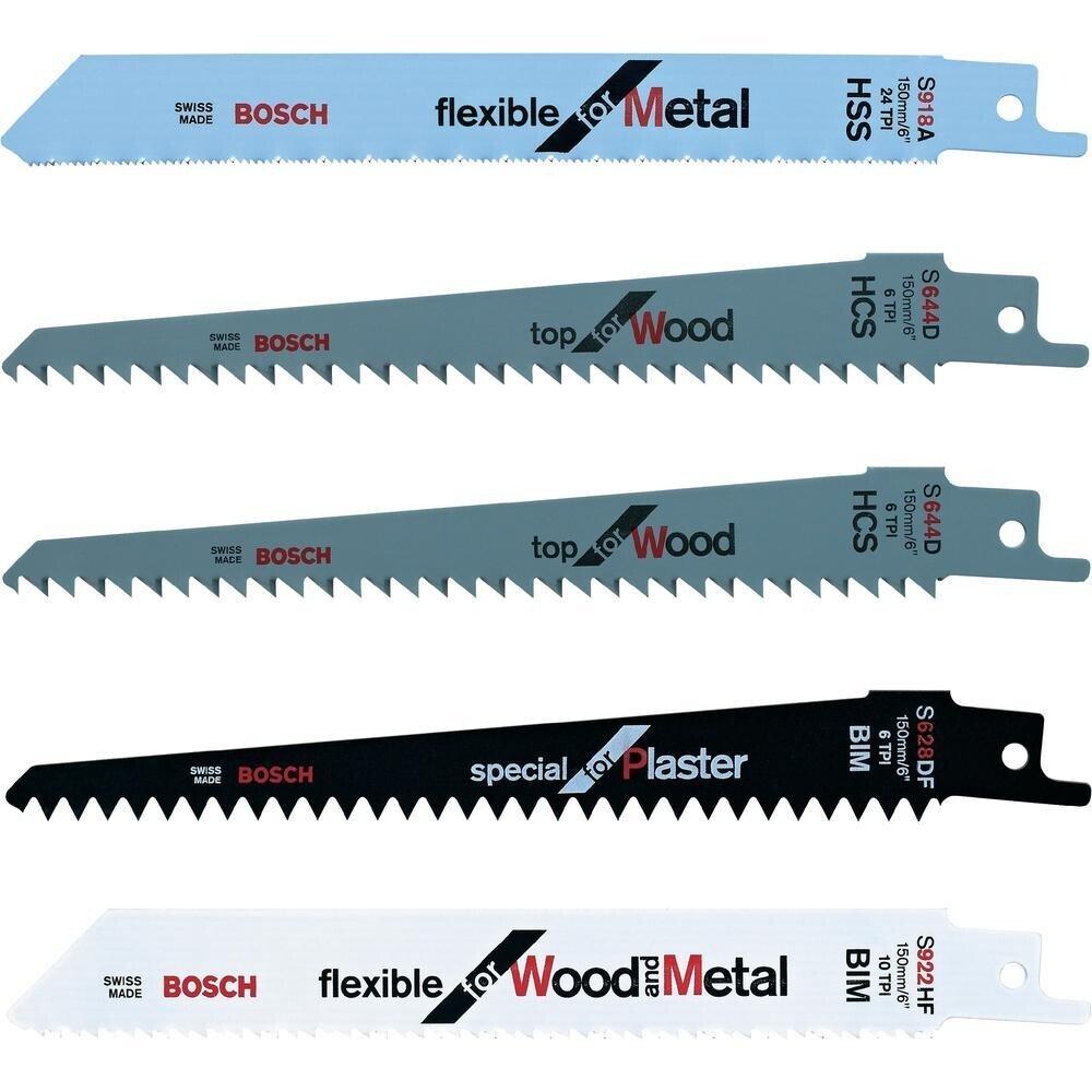 Bosch F016800307 Blade set - 2 x wood, 1 x wood/metal, 1 x metal, 1 x plaster (Keo)