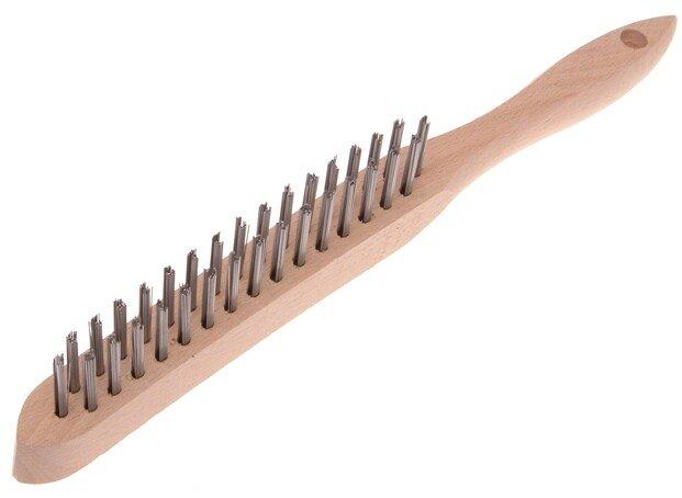 Faithfull FAI6802 Heavy-Duty Scratch Brush - 2 Row