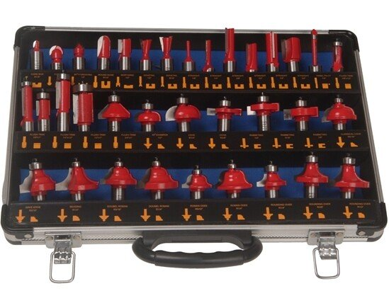 Faithfull FAIRBS35 Router Bit Set of 35 TCT Pieces 1/2in Shank