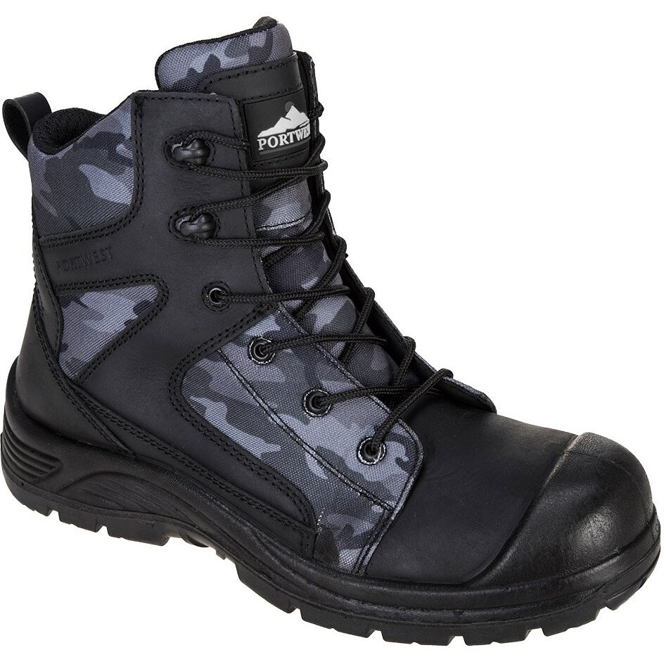 Portwest FC56 Compositelite Camo Strike Boot S3 WR Footwear - Black