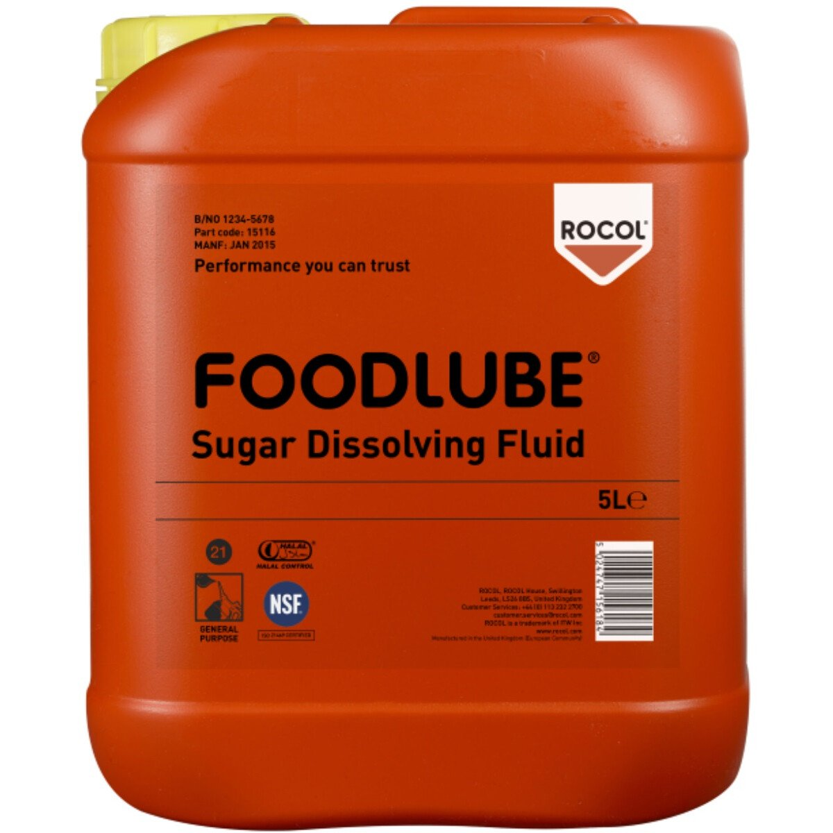 Rocol 15116 Foodlube Sugar Dissolving Fluid (NSF Registered) 5ltr