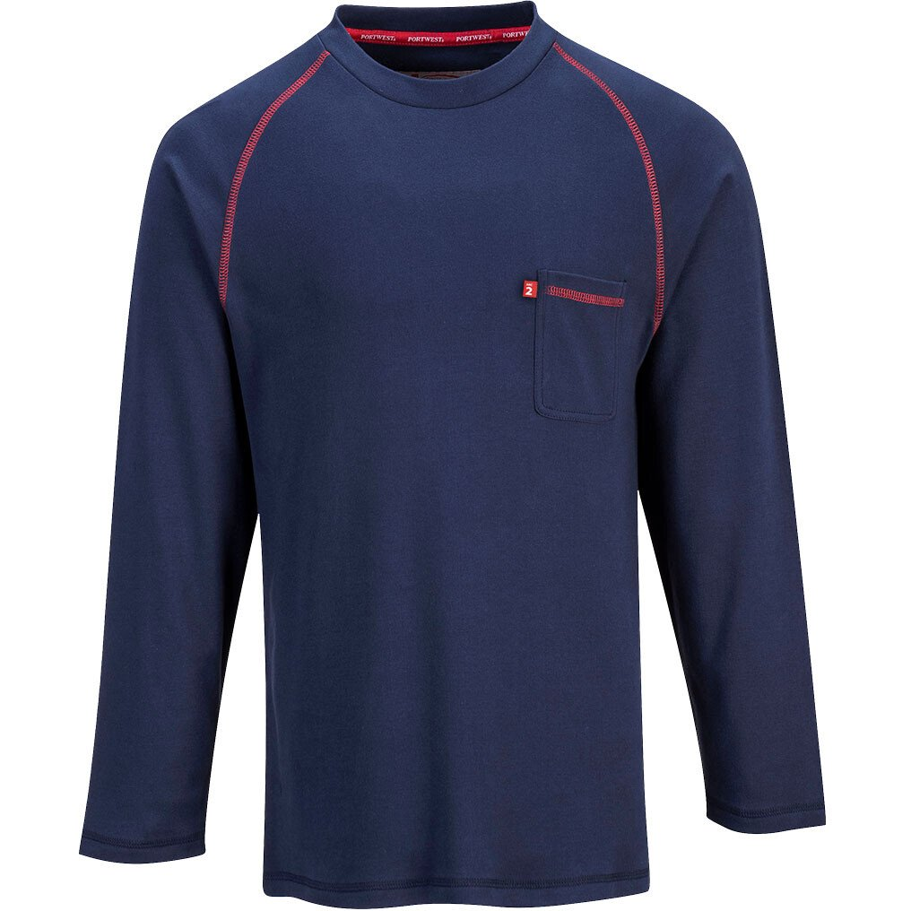 Portwest FR01 Flame Resistant Bizflame FR Crew Neck - Available in Grey or Navy Blue