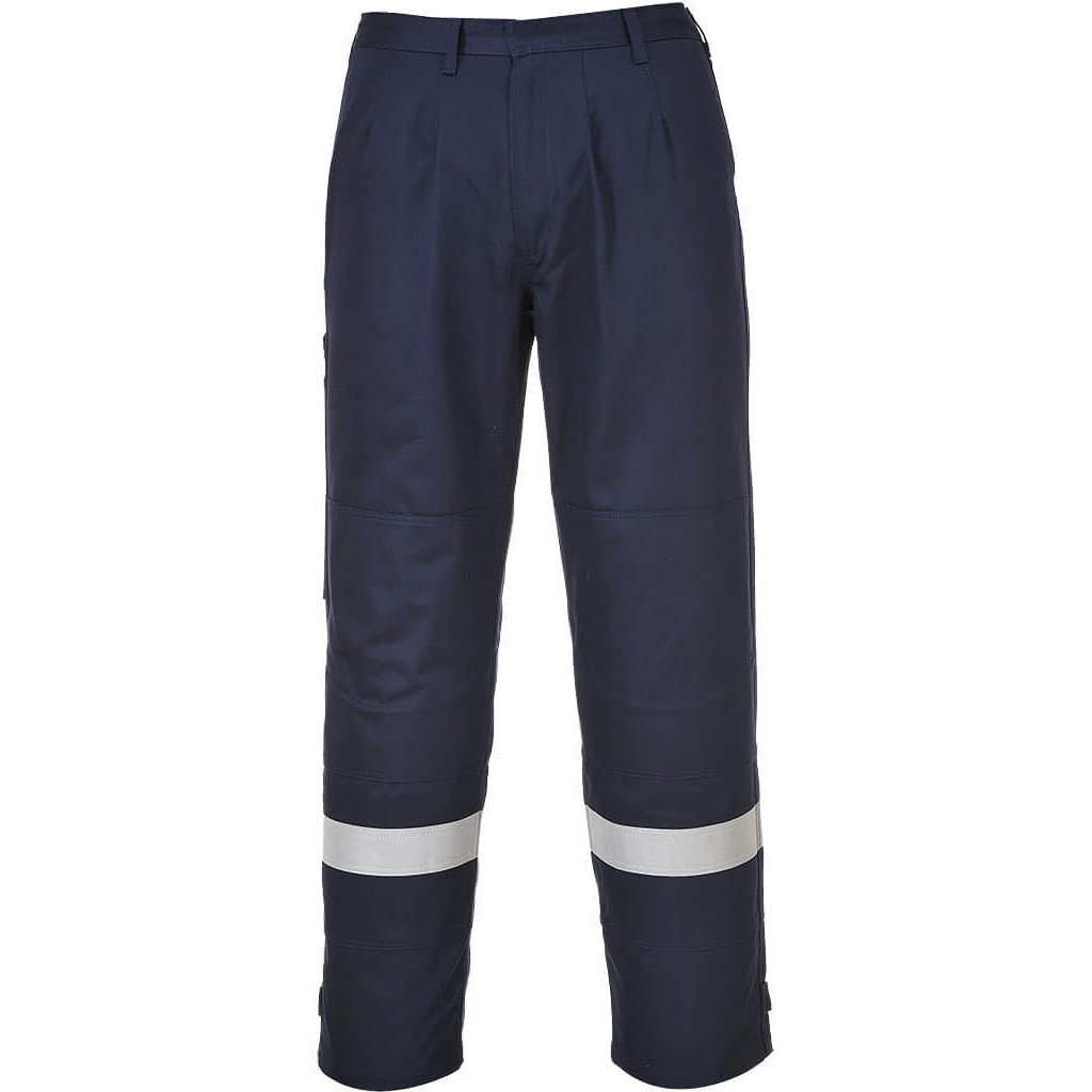 "Portwest FR26 (R) Flame Resistant Bizflame Plus Trouser - Regular Leg Length (31"" Leg) - Available in Navy Blue or Hi-Vis Orange"