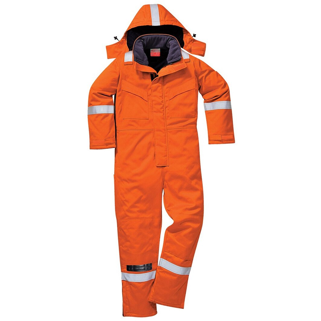 Portwest FR53 (Tall) FR Anti-Static Winter Coverall Bizflame Plus Flame Resistant - Tall Leg - Orange