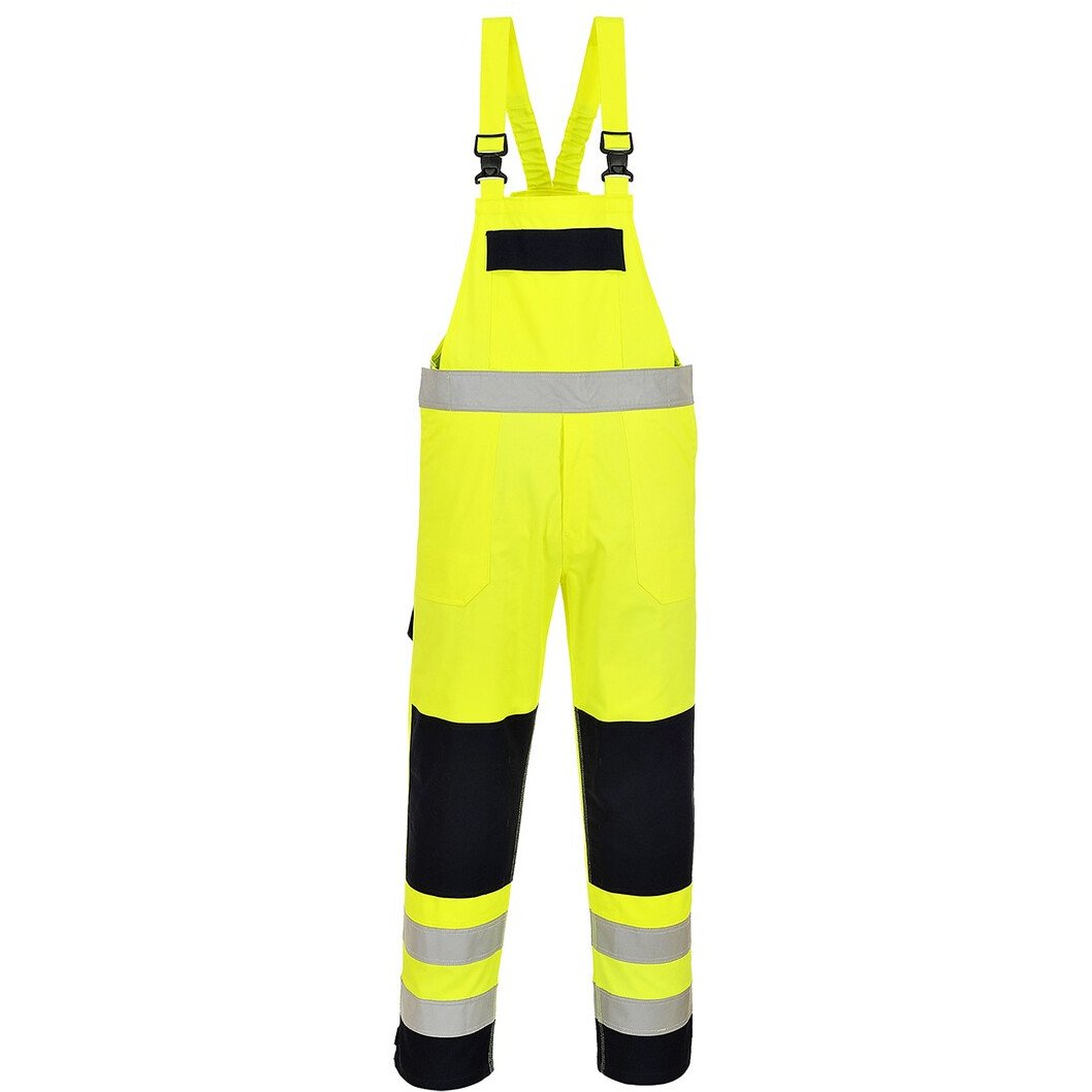 Portwest FR63 Hi-Vis Multi-Norm Bib and Brace Flame Resistant - Regular Fit