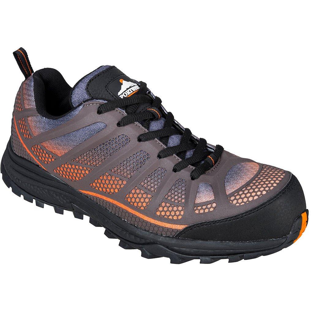 Portwest FT36 Compositelite Low Cut Spey Trainer S1P Footwear - Orange/Black