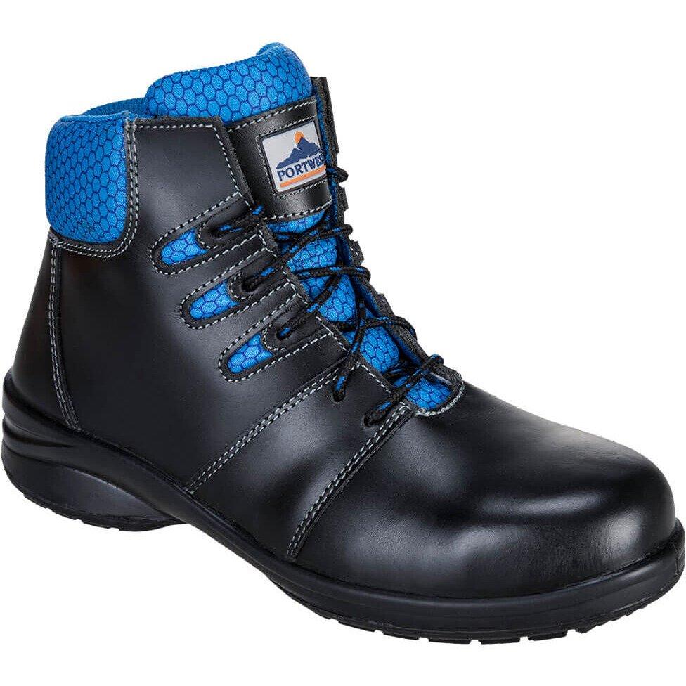 Portwest FT49 Steelite Lily Ladies Ankle Boot S1P Footwear - Black