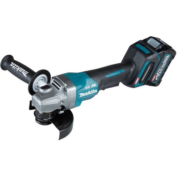 Makita GA013GD101 40v MAX XGT 125mm Angle Grinder with 1 x 2.5Ah Battery in Case
