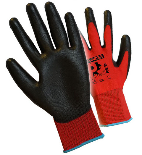 Premier PUPL Pred Red PU Gloves Cut Level 1
