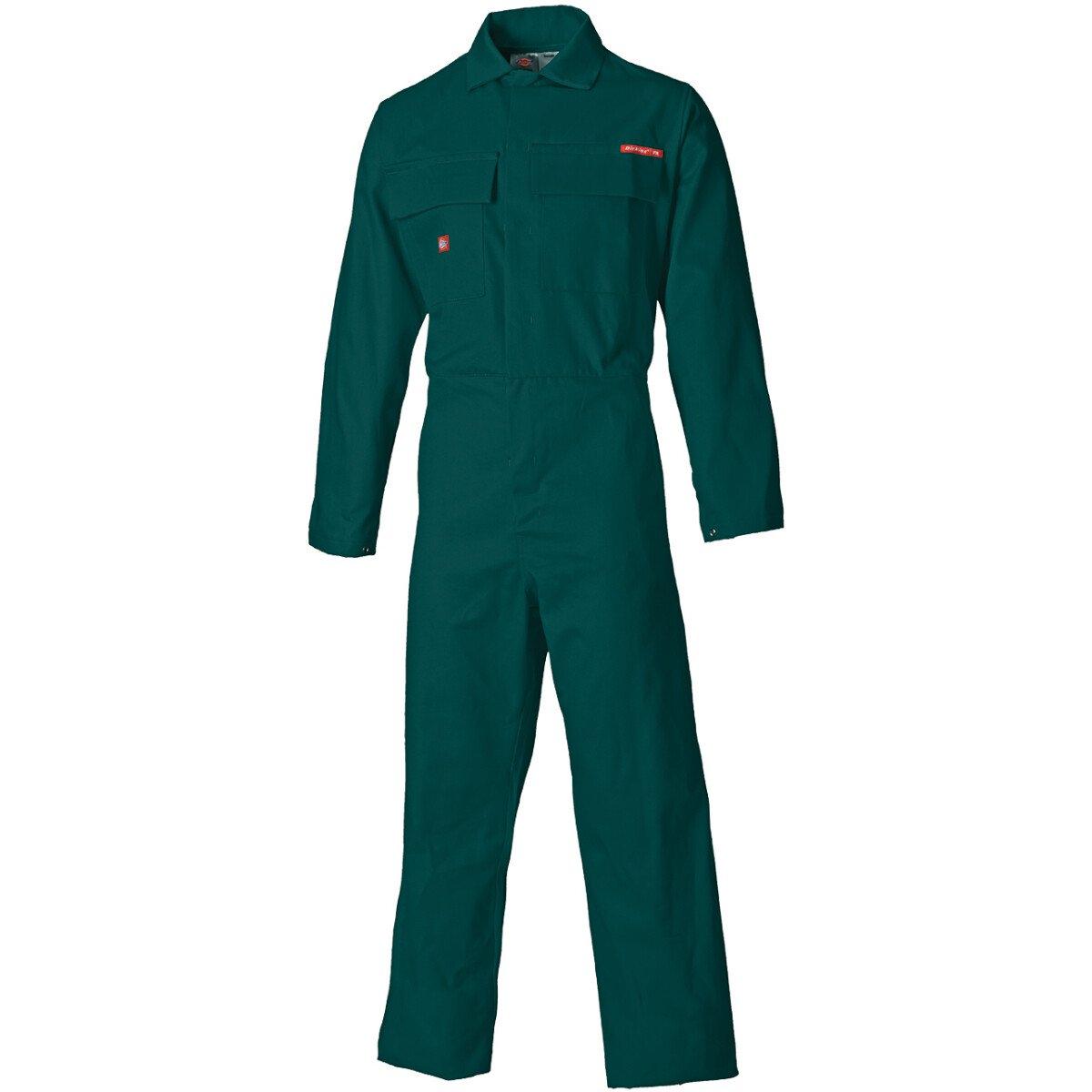 "Dickies FR4869 Proban Boilersuit Coverall FR4869 - (WAIST 52"", Reg Leg) - Vet Green - Clearance Item"