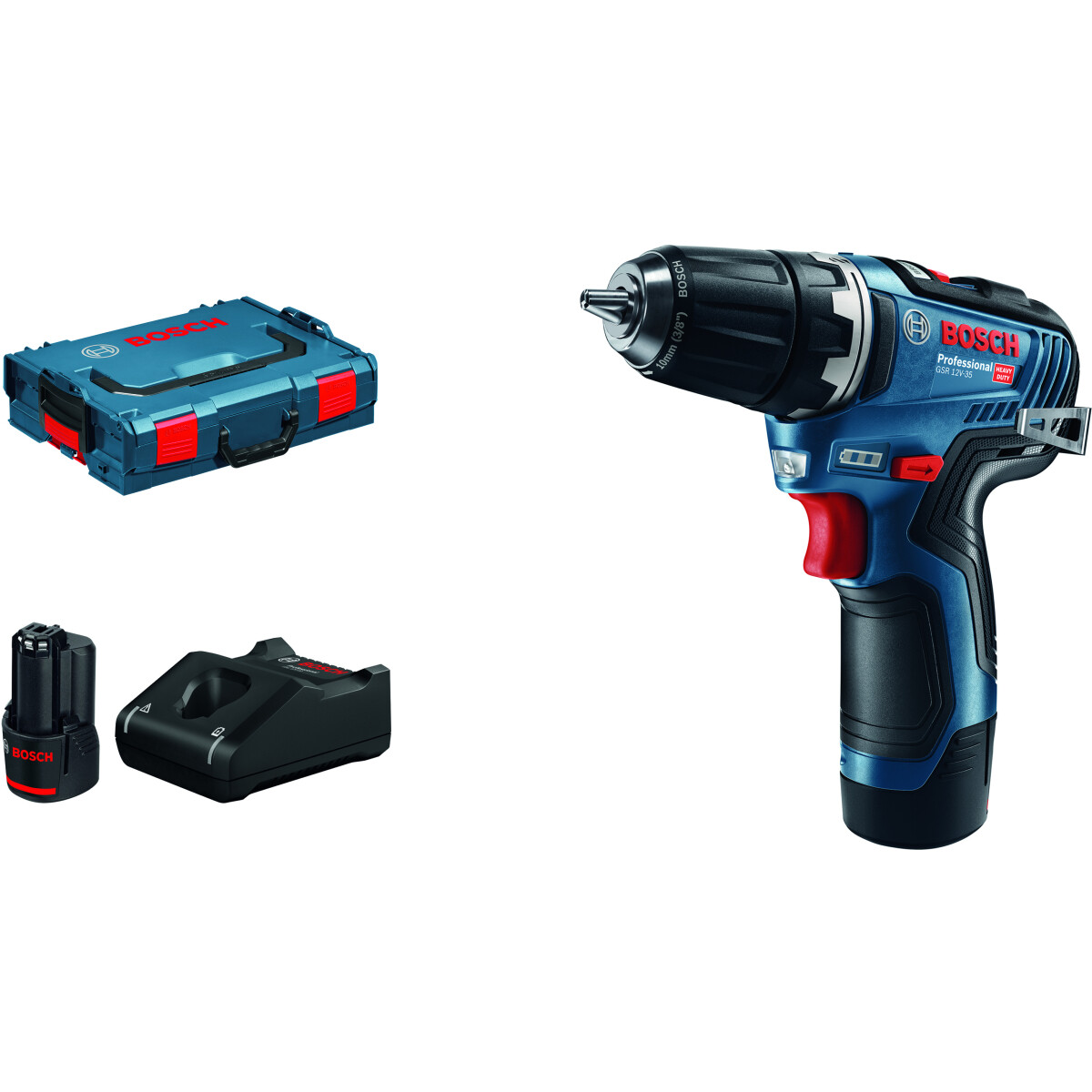 Bosch GSR 12V-35 12V Brushless 2-Speed Drill Driver with 2x3.0Ah Batteries in L-Boxx