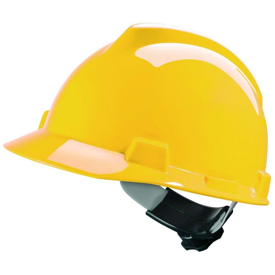 MSA GV122 VGard Safety Helmet With Fas-Trac Insert - Yellow