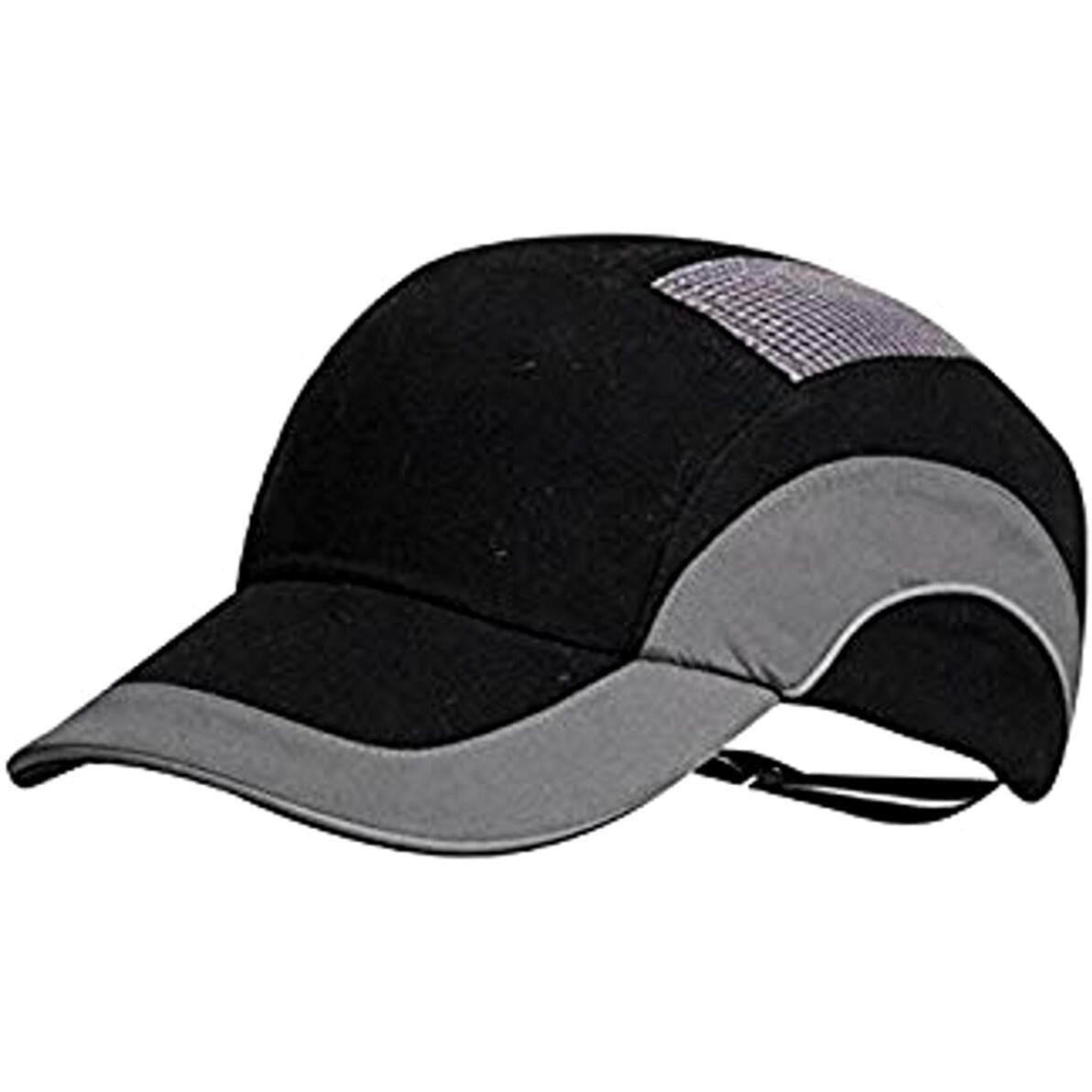 5bd873440 JSP HardCap A1 Plus Protective Bump Cap - Black/Grey with 7cm Long Peak