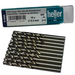 Heller 21133 8 900 Super Pro 2.2mm x 53mm HSS-G Jobber Twist Drill (Packet of 10)