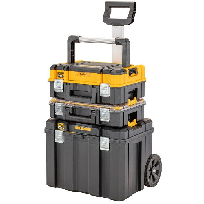 DeWalt DWST83411-1 TSTAK® 2.0 Mobile Box Bundle ( Long Handle Shallow Box, Organiser & Mobile Box)