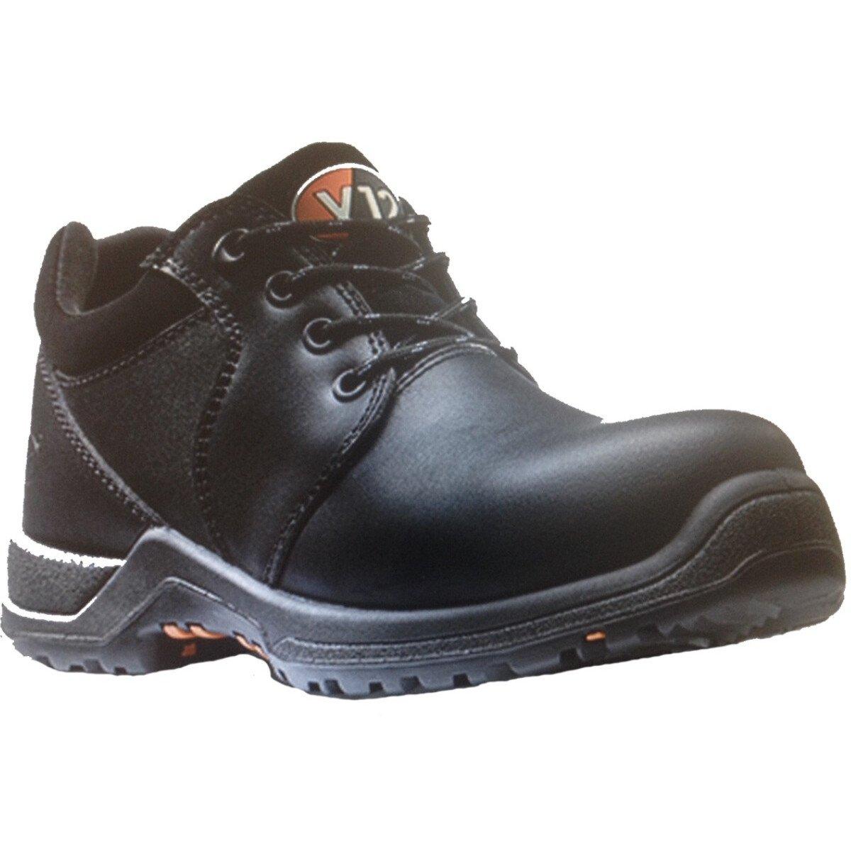 V12 Footwear Challenger UK Size 4 IGS V1710 Womens Black Metal Free Safety Shoe S3 HRO SRC-UK4
