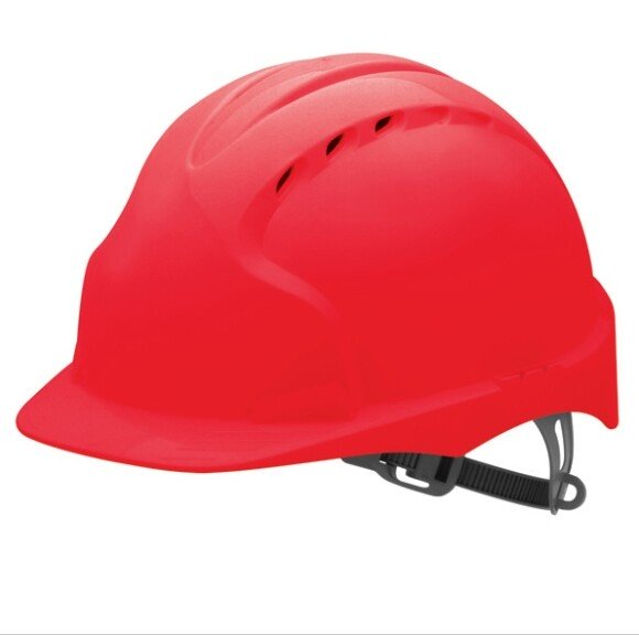 JSP Evo 2 Vented Standard Peak One Touch Safety Helmet