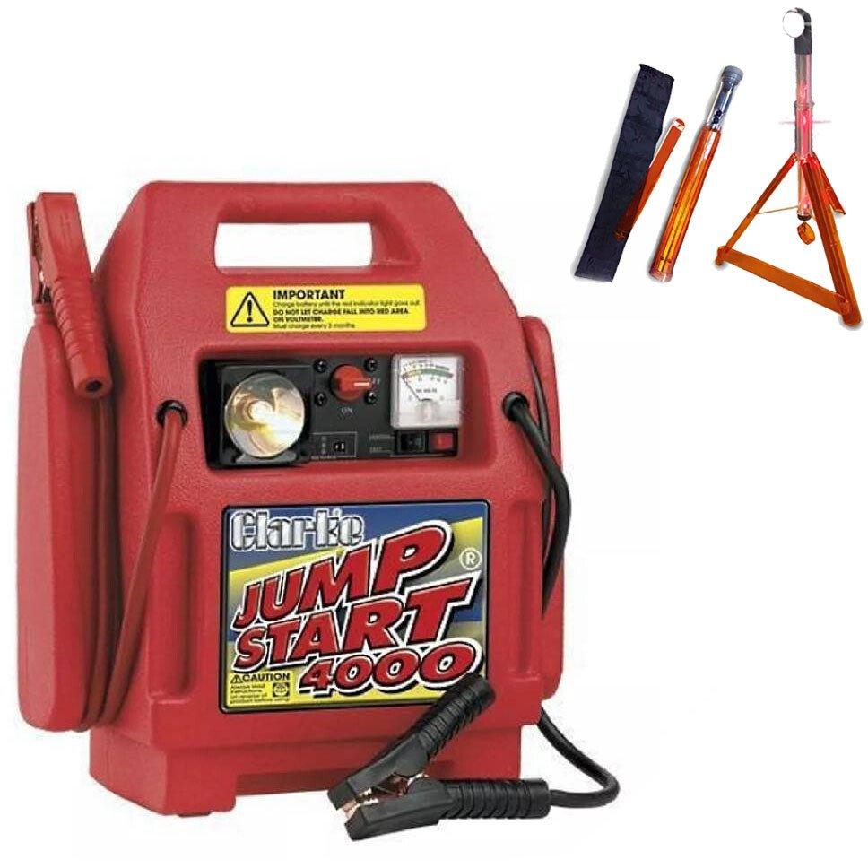 Clarke 6240030 Heavy Duty Jump Start 4000 +FREE Roadside Rescue Light