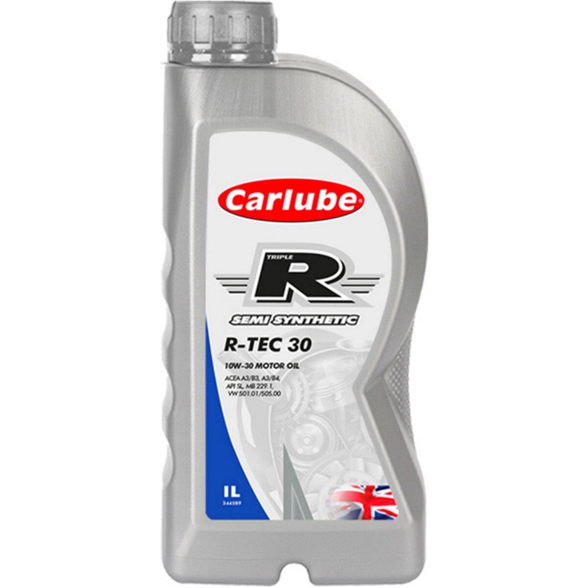 Tetrosyl KEB001 Carlube Triple R 10W-30 R-Tec 30 Semi Synthetic Motor Oil 1L