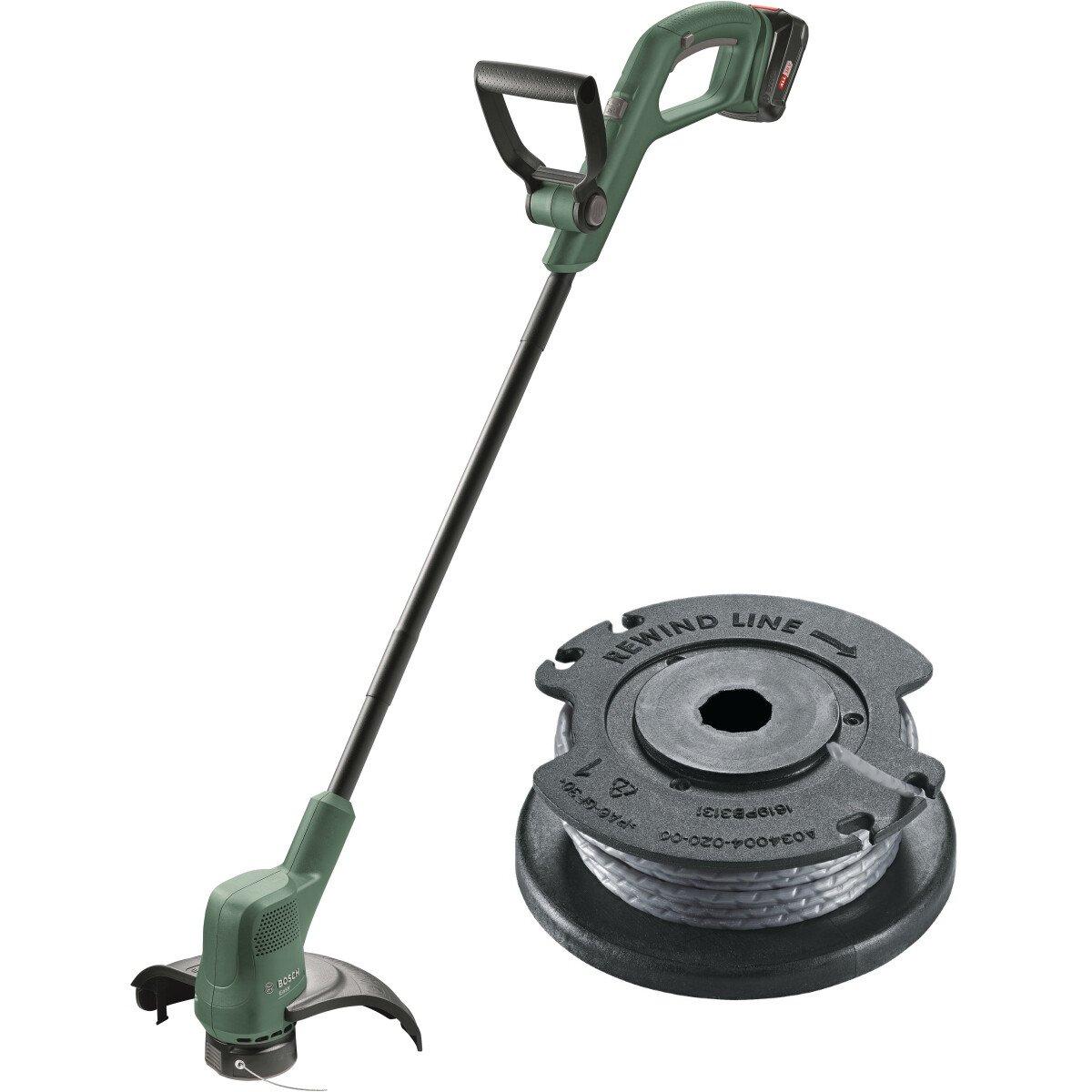 Bosch EasyGrassCut 18-26 with Spare Spool 18V 26cm Grass Trimmer (1x2.5ah)