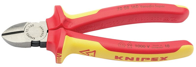Knipex 70 08 160UKSBE 160mm Fully Insulated Diagonal Side Cutters 31926