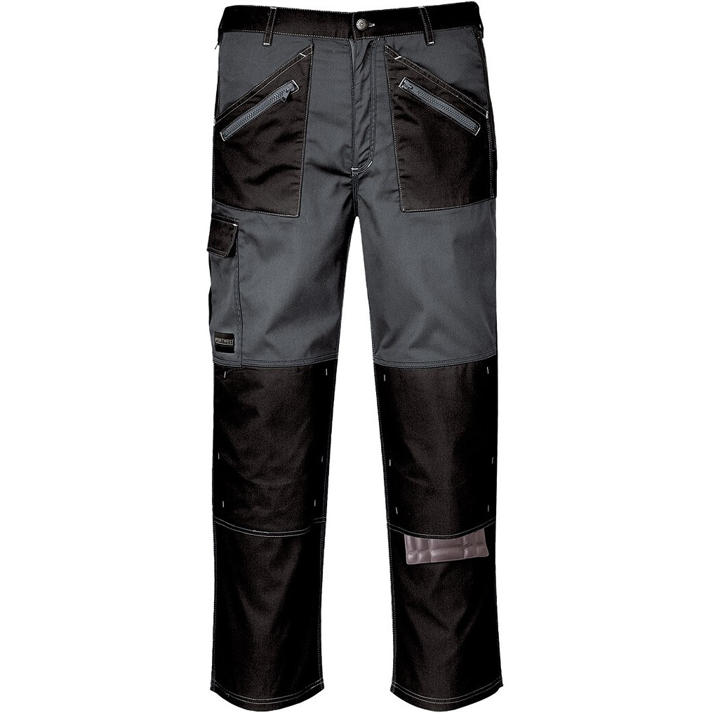 Portwest KS12 Chrome Trouser - Black/Zoom Grey - Regular Leg Length