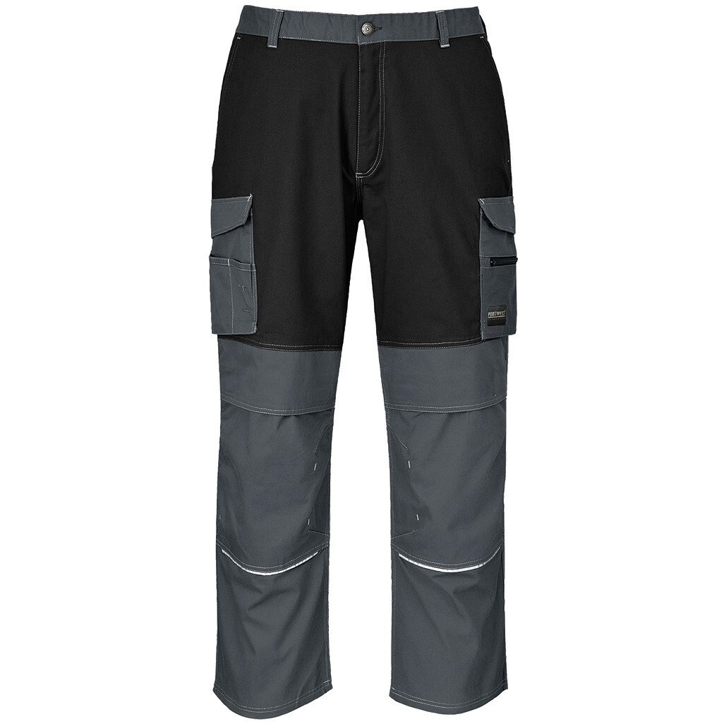 Portwest KS13 Granite Trouser Workwear - Black/Zoom Grey - Regular Leg Length
