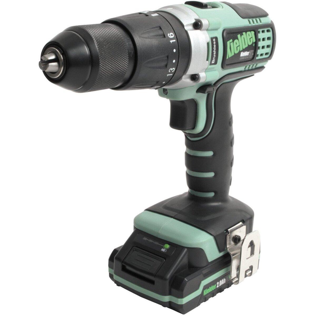 Kielder  KWT-001-17 18V Brushless Combi Drill with 2x 2.0Ah Batteries in Case