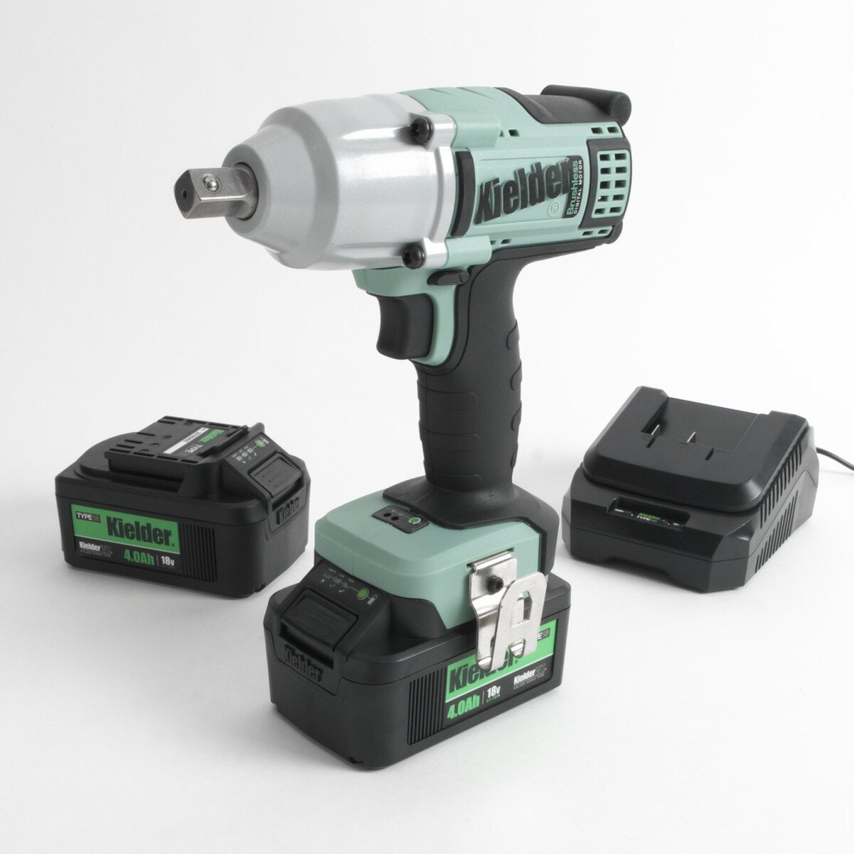 """Kielder KWT-012-51 18V 1/2"""" 700NM Brushless Impact Wrench with 2 x 4.0Ah Batteries in Stackable Carry Case."""