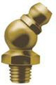 "Lawson-HIS HF4/45 Steel Hydraulic/Grease Nipple 1/4"" BSF 45° Angle"