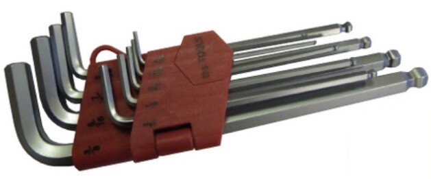 Lawson-HIS 2252 Hex Key Set 9 Piece Ball End Imperial